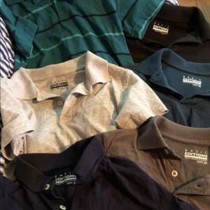 Lot of 6 size 8 polos